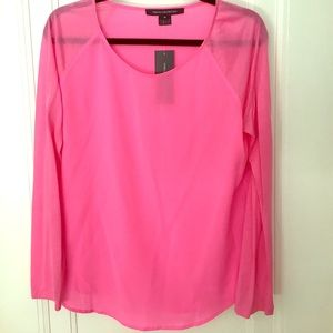 French Connection Hot Pink Top